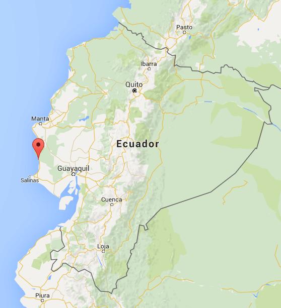 Übersichtskarte Lage Hacienda El Dorado Ecuador