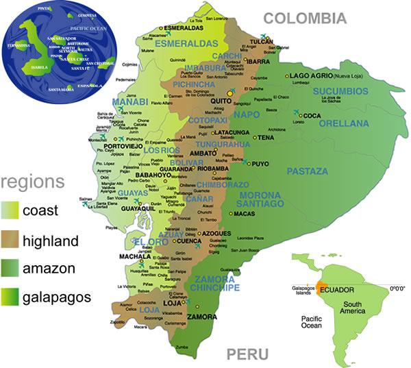 Klimazonen Ecuador (Bildquelle leider unbekannt)