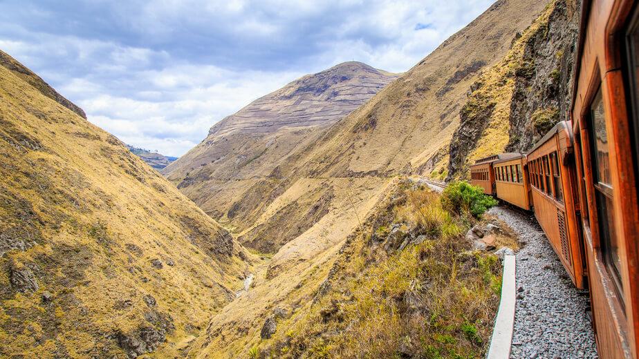 Viaje en tren de Riobamba a Ingapirca, Ecuador