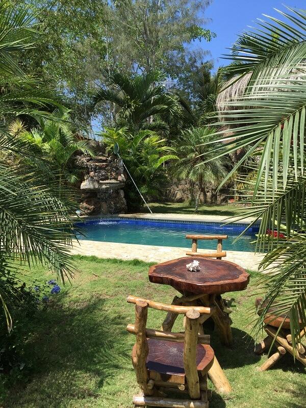Remanso de paz a la piscina Hacienda El Dorado Ecuador