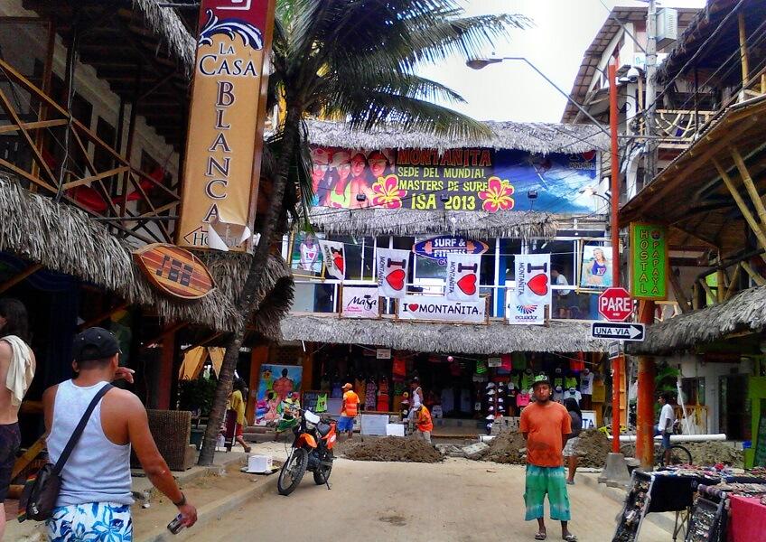 Street in Montanita, Ecuador