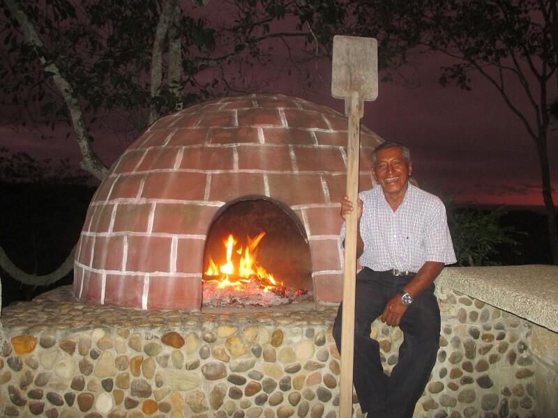 Horno de pizza, Hacienda El Dorado Ecuador
