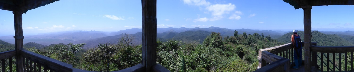 All-round view in Machalilla national park, Ecuador