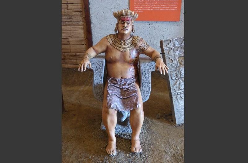 Native chief Hojas Jaboncillo, Ecuador