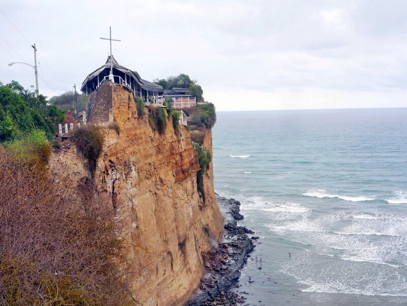 Santuario in Olón, Church on the cliffs, Ecuador